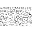 funny hedgehogs seamless pattern for your design vector image vector image