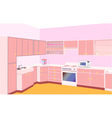 furniture on kitchen by set modern vector image vector image