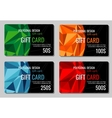 Gift discount cards set with multicolor vector image
