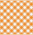 gingham yellow diagonal vector image vector image