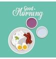 good morning breakfast design vector image