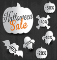 Halloween Sale Design Elements and Badges vector image vector image