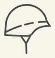 hard hat line icon helmet vector image