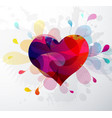 heart shape abstract for valentines day vector image vector image