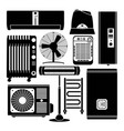 heating ventilation and conditioning silhouette vector image vector image