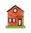 house facade doodle vector image