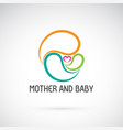 icon mother and badesign expression love vector image