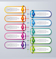 infographic design with 10 process or steps vector image vector image