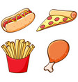 isolated set fastfood vector image vector image