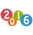 Jolly colorful 2016 vector image