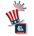 july 4th americas independence day vector image