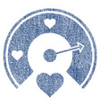 love gauge fabric textured icon vector image