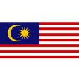 malaysian flag flat layout vector image vector image