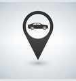 map pointer for transport car mark vector image vector image