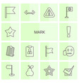 mark icons vector image vector image