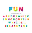 modern colorful font bright abc letters and vector image