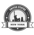 New york emblem with statue liberty