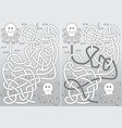 octopus maze vector image vector image