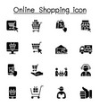 online shopping icons set graphic design vector image