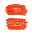 orange brush stroke isolated on white background vector image
