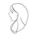 profile portrait young woman with open mouth vector image