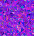 Purple irregular triangle mosaic background design vector image