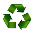 recycle green symbol vector image vector image