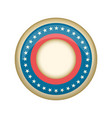 retro united states campaign button vector image