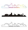 salvador de bahia skyline linear style vector image vector image