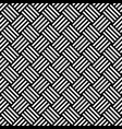 seamless pattern with black white diagonal striped vector image