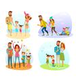 Season Family Set vector image vector image