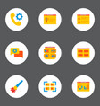 set development icons flat style symbols vector image vector image