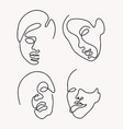 set hand drawn women isolated vector image