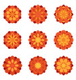 set of color flowers flat icons vector image vector image
