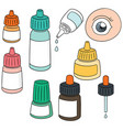 set of eye medicine vector image