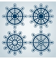 Set of ship steering wheels vector image vector image