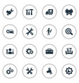 set simple repairing icons vector image vector image