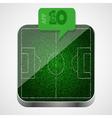 Soccer field app icon vector image vector image