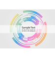 Technological ring - abstract background vector image vector image