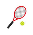 tennis racket with ball icon of racquet for court vector image
