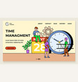 time management organization working space vector image vector image
