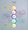 timeline infographics design with 5 options vector image vector image