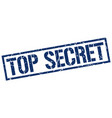 top secret stamp vector image vector image
