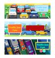 traffic road jam transportation problems vector image vector image