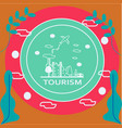 travel world concept thin vector image