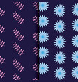 tropical leafs icon patterns vector image