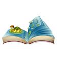 Turtle book vector image vector image