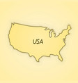 usa flag in form of map vector image vector image