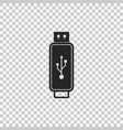 usb flash drive icon on transparent background vector image vector image