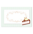 vintage greeting card template filigree frame on vector image vector image